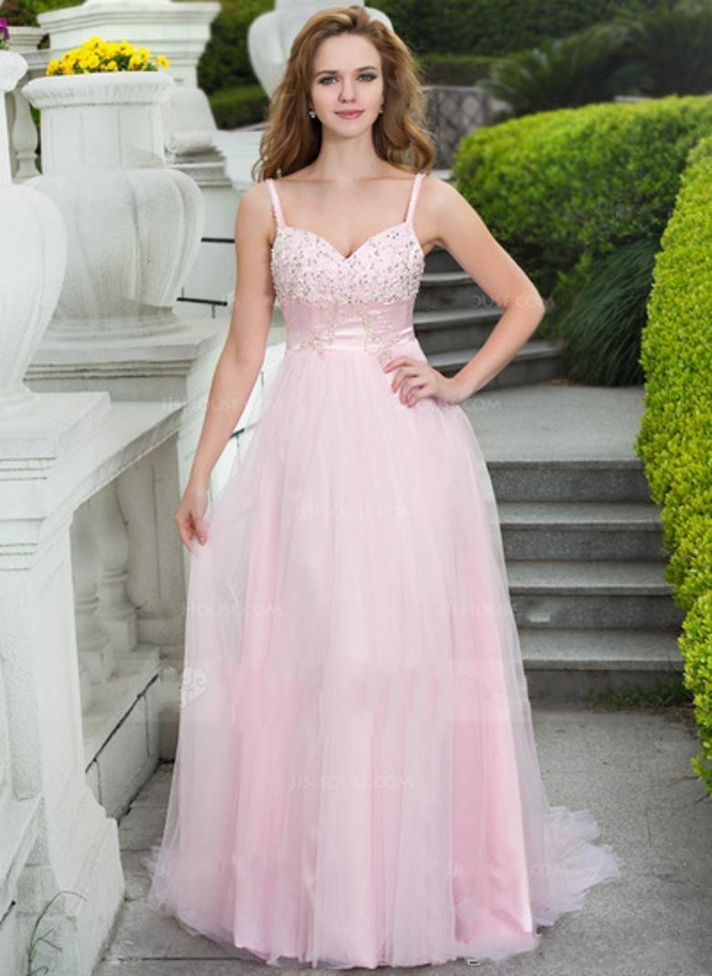 Wholesale Prom Dresses - Buy Custom Made Pink Chiffon Backless Prom Dresses Spaghetti Crystal Beads Sequins Sleeveless Long Party Evening Gowns Hot Sale, $118.33   DHgate