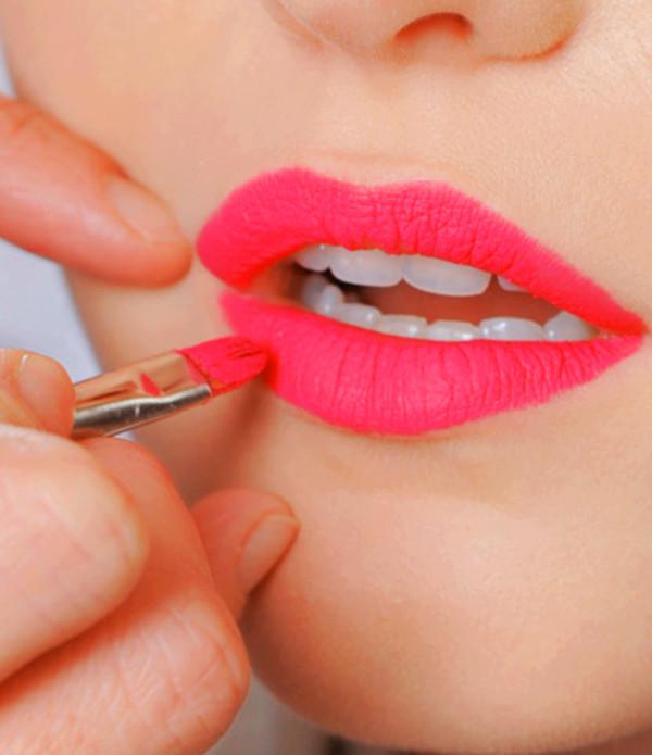 lipstick pink lips