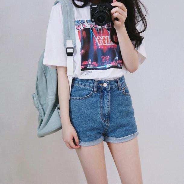 T-shirt: tumblr, kfashion, ulzzang, kiss, band t-shirt ...