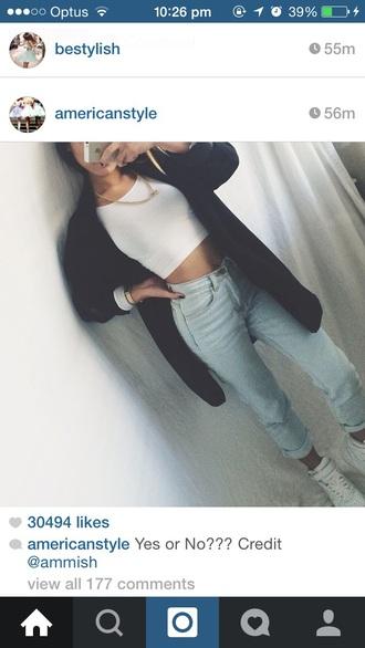 coat jeans shoes top cardigan