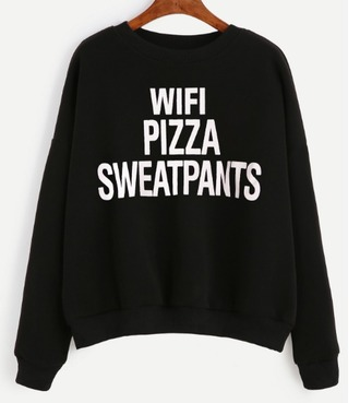 sweater black white sweatshirt quote on it