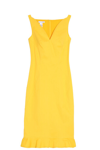 dress peplum dress yellow