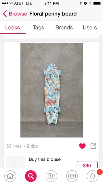 home accessory floral penny board