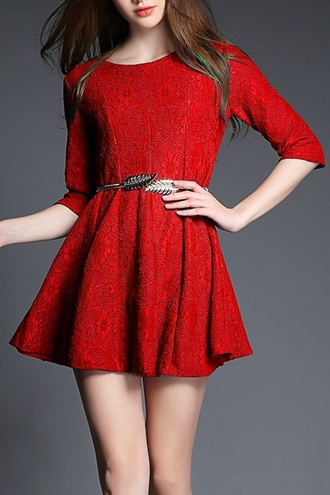 dress red red dress three-quarter sleeves round neck round neck dress cute dress formal skater dress red skater dress blue blue dress blue skater dress lace red lace dress red lace blue lace blue lace dress pleated asian asian fashion blogger mini dress mini skater dress summer dress summer summer outfits summer collection floral lace floral lace dress belt hippie hipster streetstyle street asian street fashion asian stylish outfits vestido lindo vestido robes back zipper closure back zipper dress free shipping urban girly style girl pretty streetwear beautiful kawaii spring spring outfits preppy preppy dress chic preppy chic