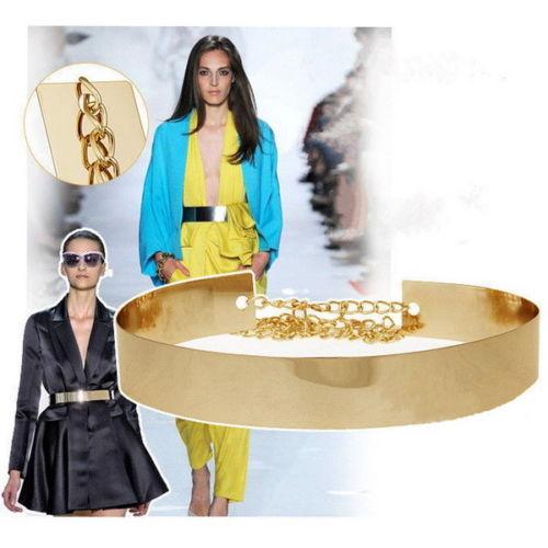 Women Gold Wide Waistband Plate Full Metal Waist Fashion Band Mirror Chains Belt-in Belts & Cummerbunds from Apparel & Accessories on Aliexpress.com | Alibaba Group
