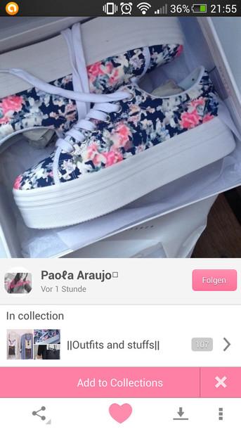 shoes plateau shoes flowers vans