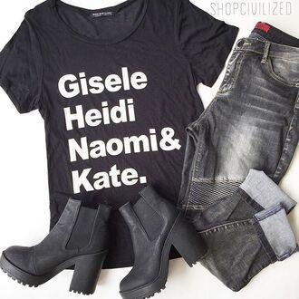 t-shirt black black t-shirt jeans denim black denim black jeans ribbed ribbed denim boyfriend jeans