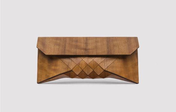 Wood Clutch // EMBOYA by TeslerMendelovitch on Etsy