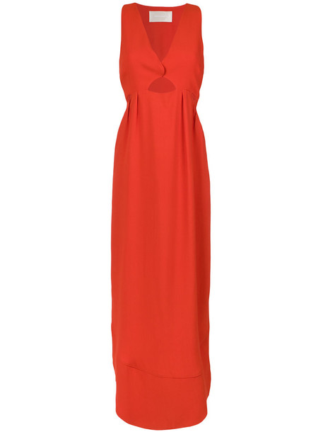 dress evening dress women red