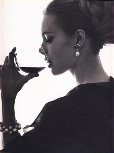 white black jewels nathalie portman earrings vintage