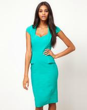 dress,clothes,midi dress,turquoise dress