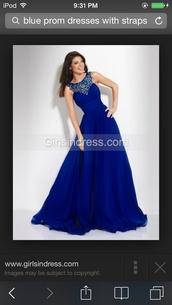 google,dress,blue dress,royal blue dress,blue prom dress,long dress,formal dress,evening dress