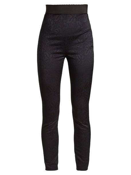 Dolce & Gabbana high jacquard black pants
