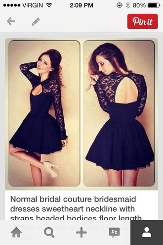 dress black dress lace backless black dress short dress long sleeve dress long sleeve lace dress open back dresses