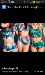 swimwear,rave,spandex,top,shorts,outfit