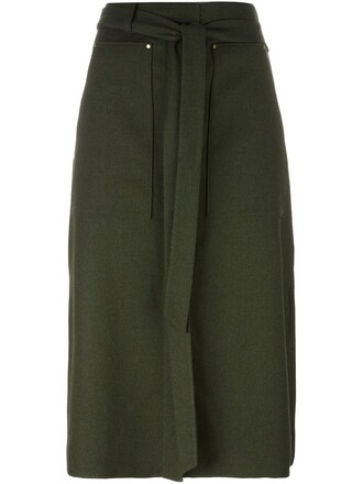 skirt women spandex wool green
