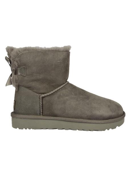 Ugg bow mini grey shoes