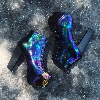 shoes heels high black rock punk cool cute girly violet love grunge