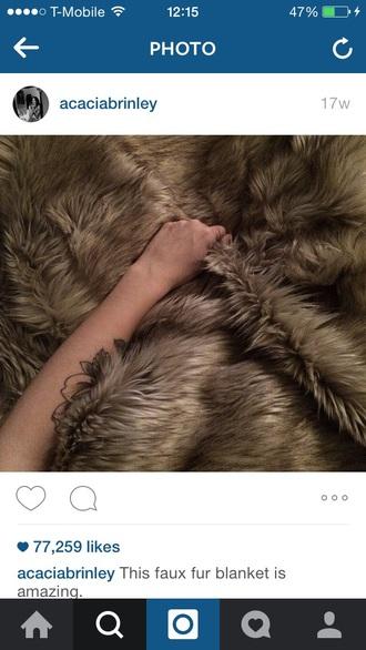 home accessory faux fur acacia brinley