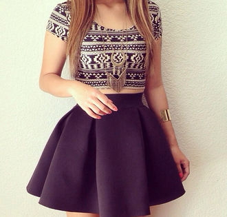 top hot skirt necklace gold braclet cute
