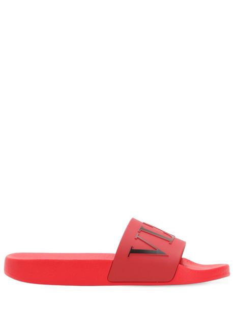VALENTINO Vltn Logo Pvc Slide Sandals in red