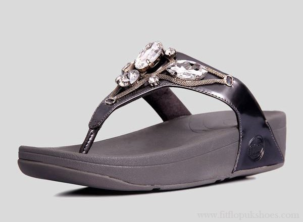 Womens Fitflop Eight Diamonds Grey Sandals [FP-224] - $69.00 : FitflopUKShoes.com :: 100% High Quality