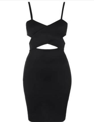 dress black cut-out little black dress bodycon dress
