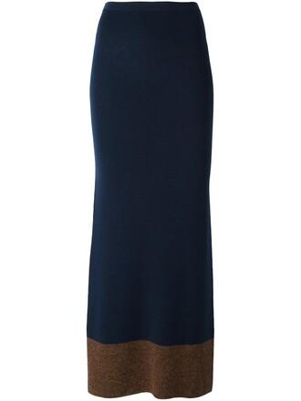 skirt knit blue