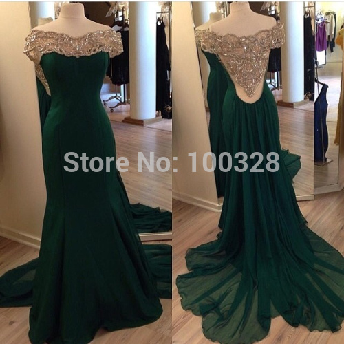 Aliexpress.com : buy 2014 new design custom made floor length court train cap sleeve scoop with beaded back with beading mermaid prom/evening dresses from reliable cap dog suppliers on rose wedding dress co., ltd