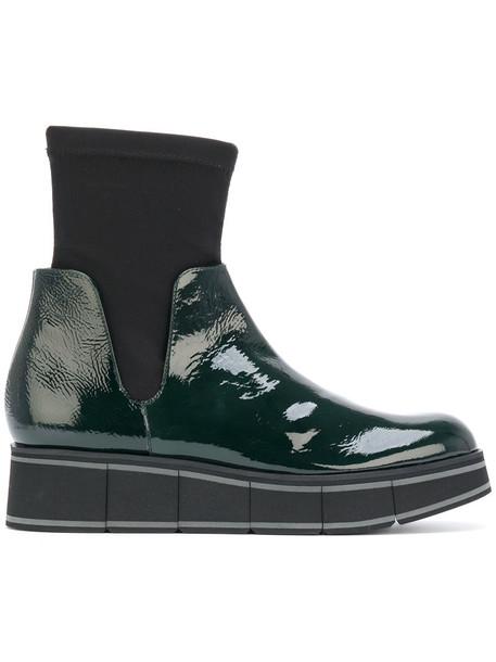 PALOMA BARCELÒ women leather green neoprene shoes