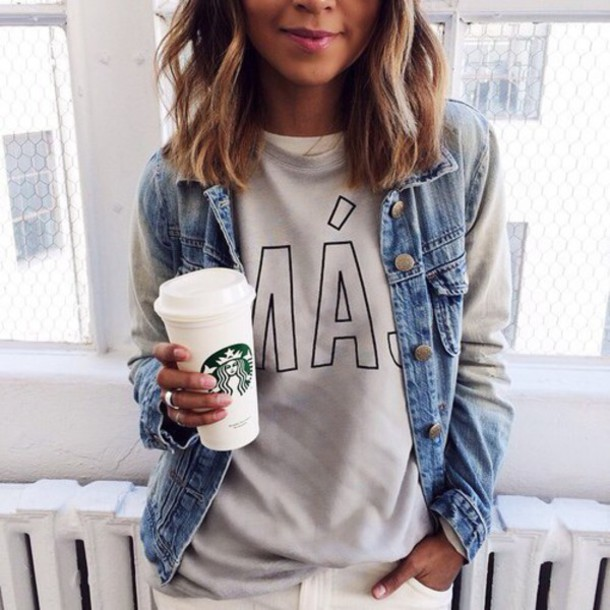 Jacket tumblr denim jacket tumblr outfit tumblr clothes cute top - Wheretoget