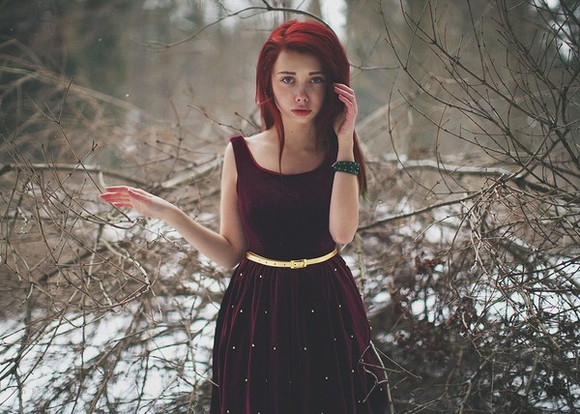 fairytale dress dresss spikes red velvet gold burgundy a-line dresses 50s
