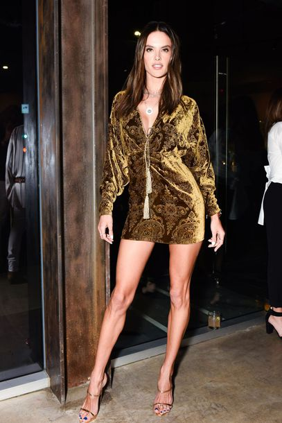 dress velvet velvet dress mini dress sandals sandal heels alessandra ambrosio kimono shoes