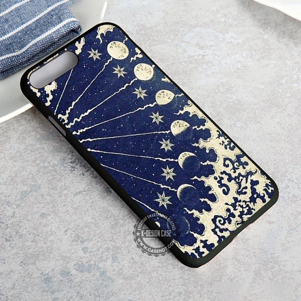 Moon Phrase art Celestial Nirvana - iPhone X 8  7 6s SE Cases & Covers #iPhoneX