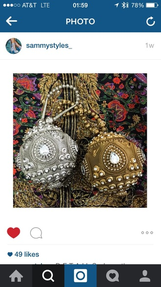 bag gold silver potli indian purse bling