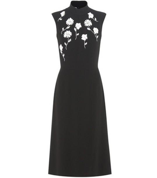 Prada Embellished Crêpe Dress in black
