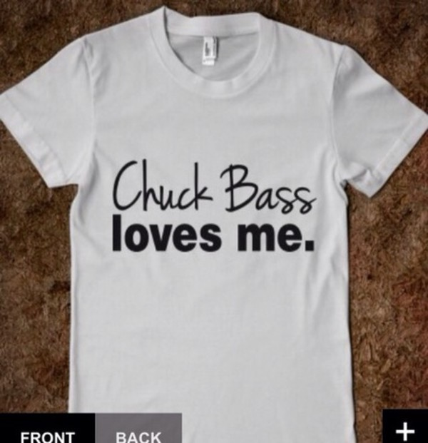 t-shirt white chuck bass