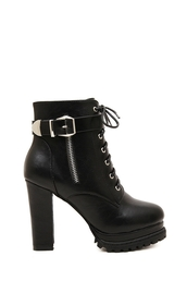 shoes,heels,boots,lace up,fashion,style,black,zip,faux leather,buckles,fall shoes,grunge,winter outfits,fall outfits,gold,platform shoes