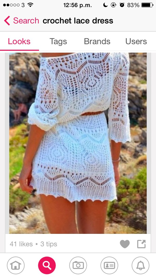 crochet lace dress white pretty