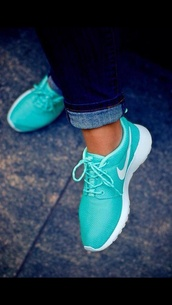 shoes,nike,nike roshe run,turquoise,trainers,sports shoes,running shoes,roshe run mint green,blouse,airmaxthea,tiffany blue,asap,green,aqua,nike free run,sneakers,blue shoes,style,nike running shoes,nike air,nike sneakers,nike shoes,rosches,summer outfits,cute,nail accessories,turkise,calypso,nike roshe run running shoes,nike teal roshe,aqua nike roshe