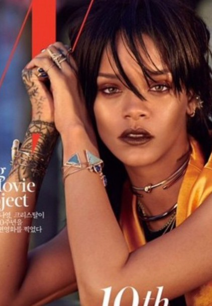 rihanna style jewels silver make-up