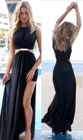 sabo skirt maxi dress blackmaxidress graduation homecoming high neck long slit final year evening outfits valedictory dinner date outfit dress. fashion\ fashion]
