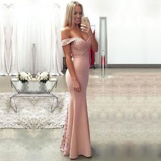 dress dressesofgirl pink prom dress mermaid prom dress long prom dress prom dress off the shoulder prom dresses lace prom dresses satin prom dresses sexy prom dress prom dresses 2017 prom gowns