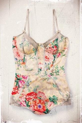 swimwear floral swimwear floral floral print romantic