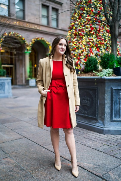 covering bases curvy blogger dress coat shoes jewels