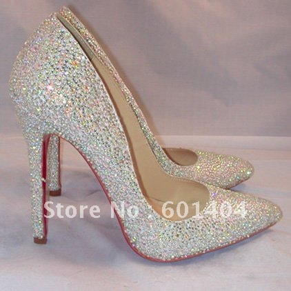 d20cd63548b 2012 brand new fashion sliver crystal pumps Sexy Crystal high heels ...