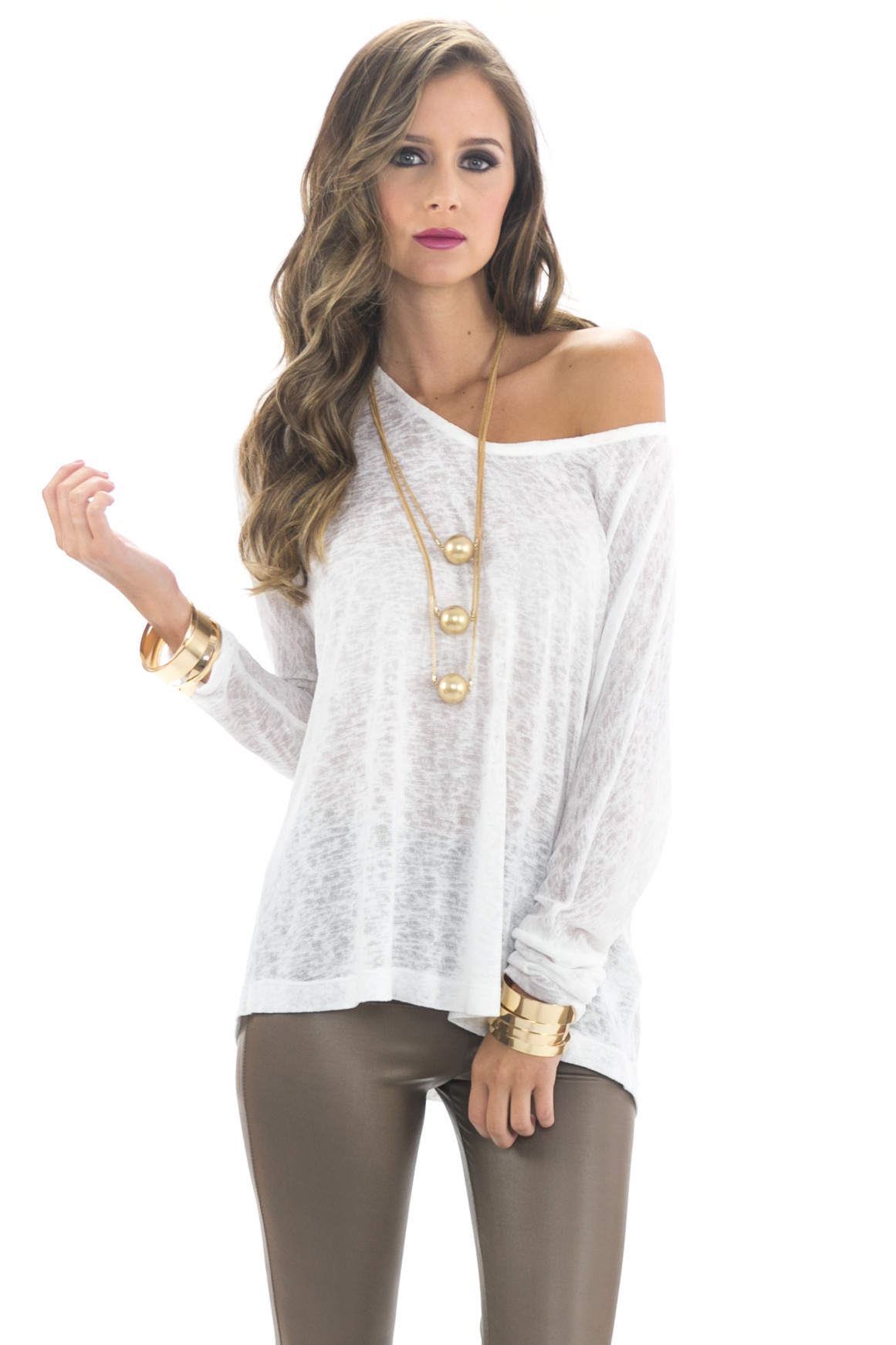 Rand dolman sleeve heather tee