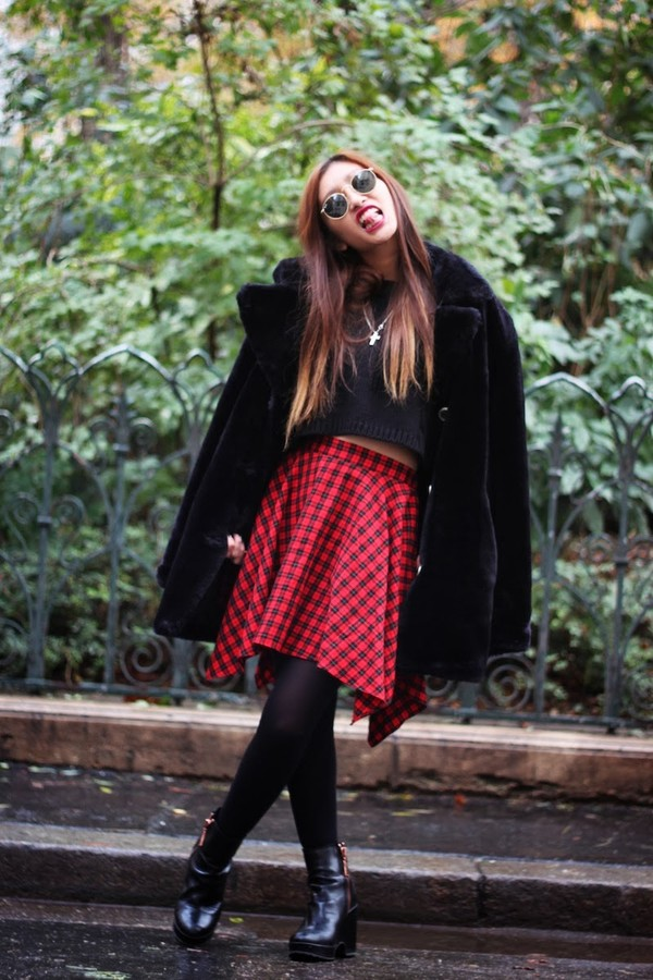 rosa pel's blog sweater skirt shoes coat
