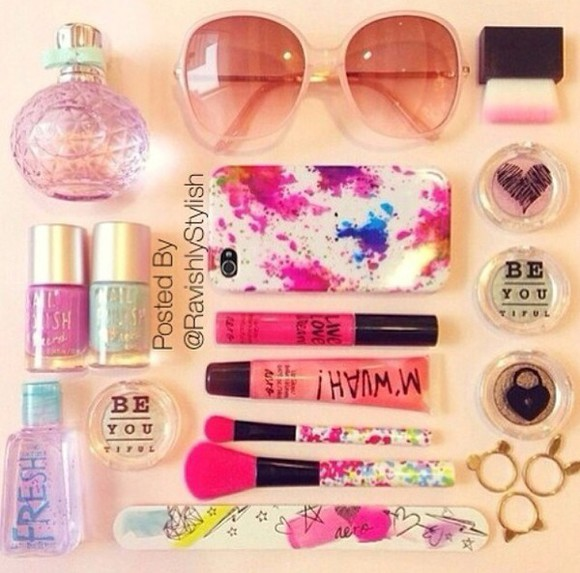 glasses make-up nails art nail polish accessories