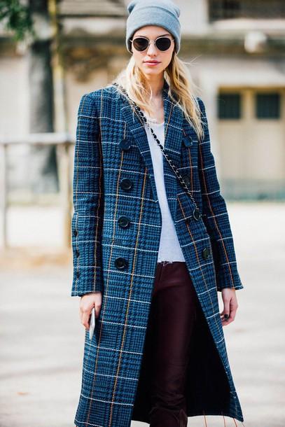Coat Fashion Week Street Style Fashion Week 2016 Fashion Week Paris Fashion Week 2016 Blue